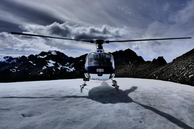 Snow Landing above Tasman Glacier